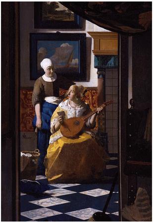 Johannes Vermeer The Love Letter Art Print Poster Posters