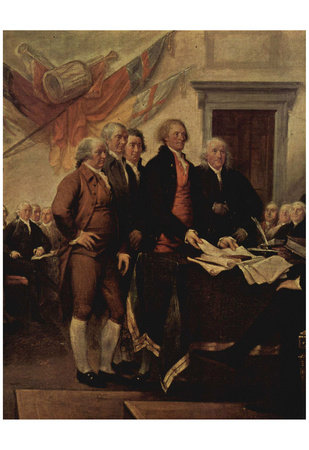 John Trumbull (The Declaration of Independence, detail) Art Poster Print Posters