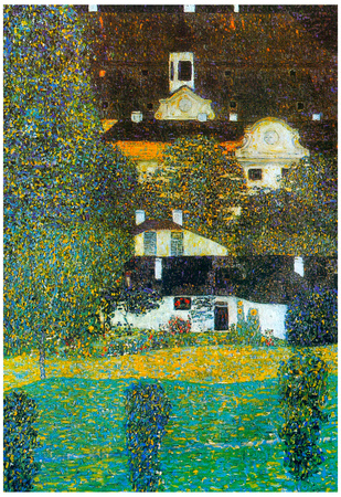 Gustav Klimt Castle Chamber at Attersee II Art Print Poster Posters