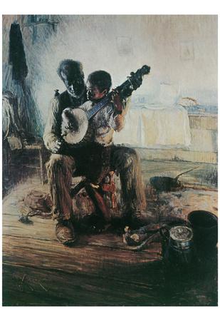 Henry Tanner (Banjo Lesson) Art Poster Print Photo