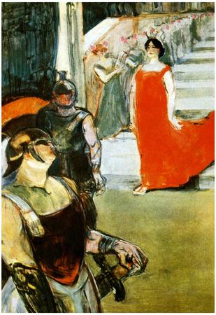 Henri de Toulouse-Lautrec Messalina Descending Art Print Poster Prints