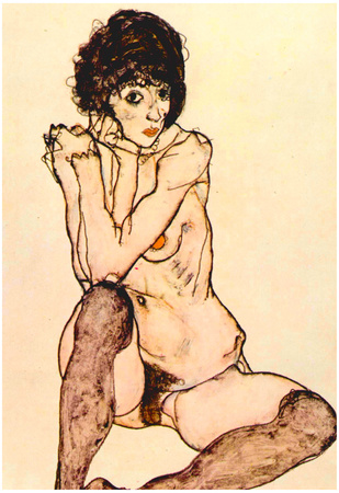 Egon Schiele Woman Lounging Unknow Art Print Poster Prints