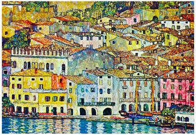 Gustav Klimt Malcena at the Gardasee Art Print Poster Posters