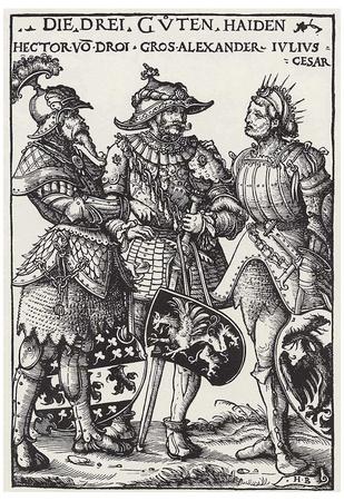 Hans Burgkmair d. Ä. (Three Pagan Heroes: Hector, Alexander and Caesar) Art Poster Print Posters