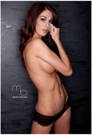 Jade Vaughan Topless in Black Lingerie Sexy Photo Poster by Mario Brown Prints
