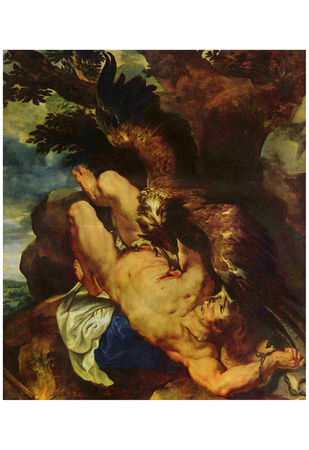 Peter Paul Rubens (Prometheus bound) Art Poster Print Print