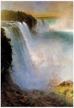 Frederick Edwin Church Niagara Falls from the American Side Art Print Poster Photo