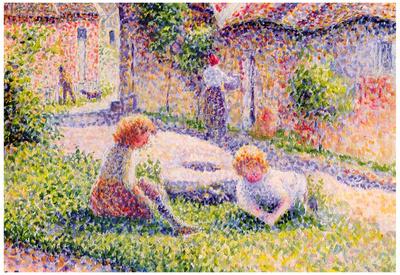 Camille Pissarro Children on a Farm Art Print Poster Prints