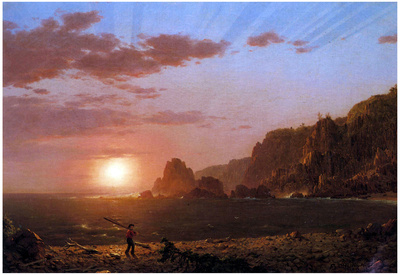 Frederick Edwin Church Large Manan Island Bay of Fundy Art Print Poster Posters