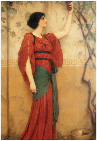 John William Godward Autumn Art Print Poster Prints