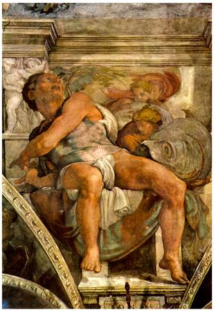 Michelangelo The Prophet Jonas Art Print Poster Posters