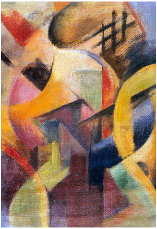 Franz Marc Small Composition I Art Print Poster Prints