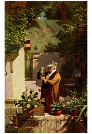 Carl Spitzweg (The cactus friend) Art Poster Print Posters