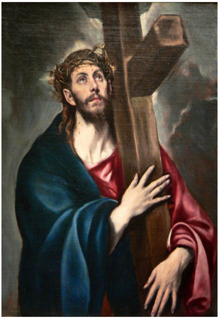 El Greco Christ Carrying the Cross Art Print Poster Posters