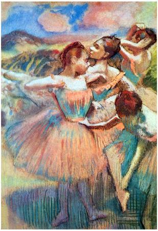 Edgar Degas Dancers in the Landscape Art Print Poster Print