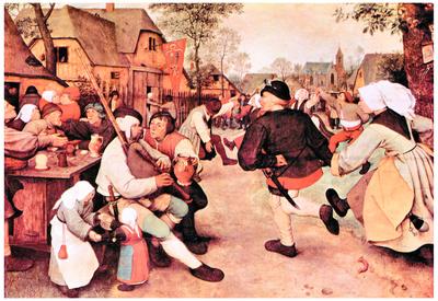 Pieter Bruegel Barn Dance Art Print Poster Prints