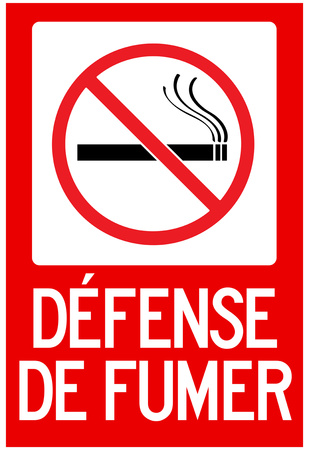 defense de fumer french no smoking sign poster posters p. Black Bedroom Furniture Sets. Home Design Ideas