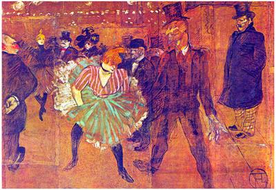 Henri de Toulouse-Lautrec Ball At Moulin-Rouge Art Print Poster Prints