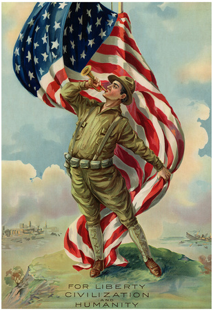 For Liberty Civilization and Humanity WWI War Propaganda Art Print Poster Posters