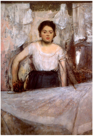 Edgar Degas Woman Ironing Art Print Poster Prints