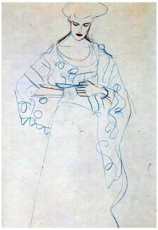 Gustav Klimt Lesendes Girls Art Print Poster Posters