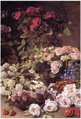 Claude Monet Spring Flowers Art Print Poster Posters