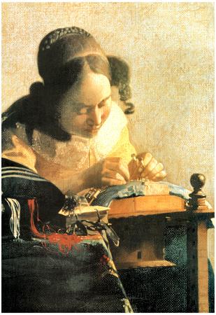 Jan Vermeer The Lacemaker Art Poster Print Posters