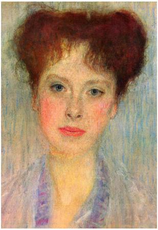 Gustav Klimt Portrait of Gertha Detail Art Print Poster Posters