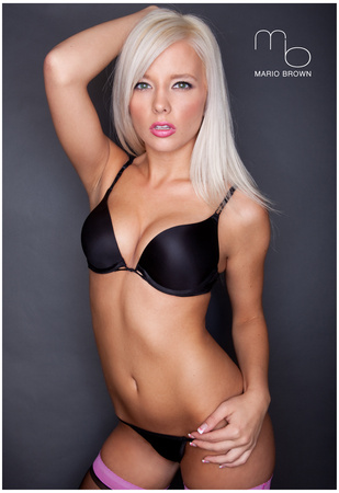 Lisa Lee Marie Black and Pink Lingerie Sexy Photo Poster by Mario Brown Prints