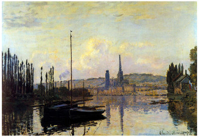 Claude Monet View of Rouen Art Print Poster Poster