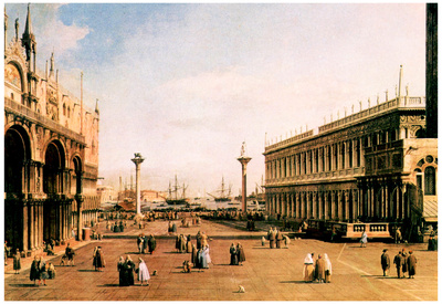 Canaletto La Piazza Art Print Poster Prints