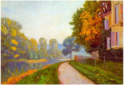 Gustave Caillebotte Riverbank Art Print Poster Print