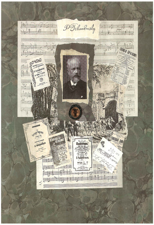 Peter Ilyich Tchaikovsky composer Art Print Poster Prints