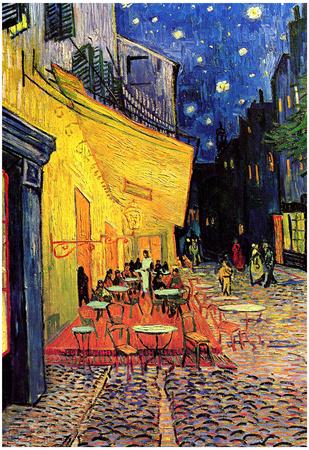 Vincent Van Gogh Cafe Terrace at Night Art Poster Print Plakater