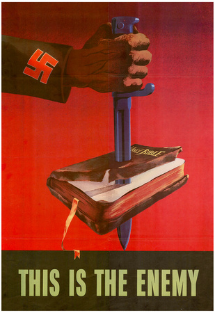 This is the Enemy Anti-Nazi WWII War Propaganda Art Print Poster Posters