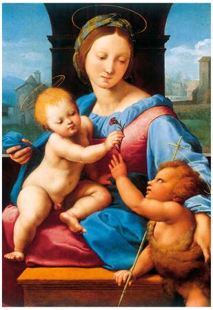 Raphael Madonna Aldobrandini Art Print Poster Print