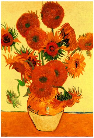 Vincnet Van Gogh Still Life Vase with Fifteen Sunflowers 5 Art Print Poster Prints