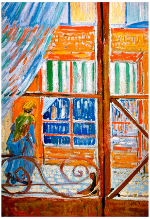 Vincent Van Gogh A Pork Butchers Shop Seen from a Window Art Print Poster Posters