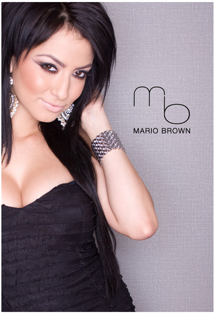 Regina Pacheco Black Dress Photo Poster by Mario Brown Poster