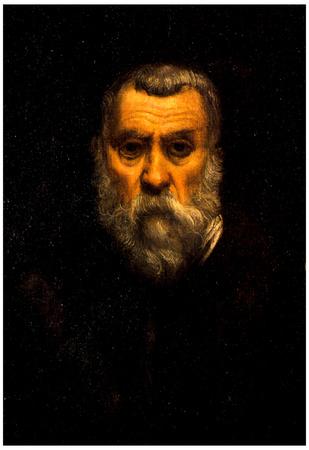Tintoretto Self Portrait Art Print Poster Prints