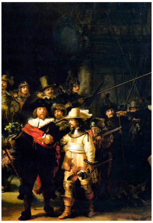 Rembrandt The Night Watch Detail Art Print Poster Prints