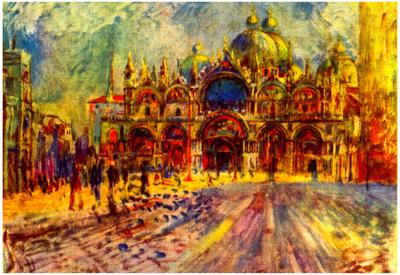 Pierre-Auguste Renoir Marcus Place in Venice Art Print Poster Prints