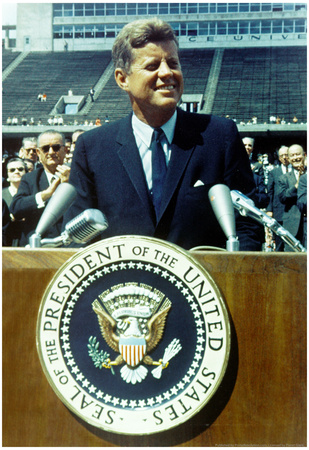 President John F Kennedy Speech Color Archival Photo Poster Posters