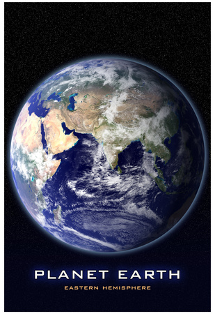Planet Earth From Space Eastern Hemisphere Photo Poster Print