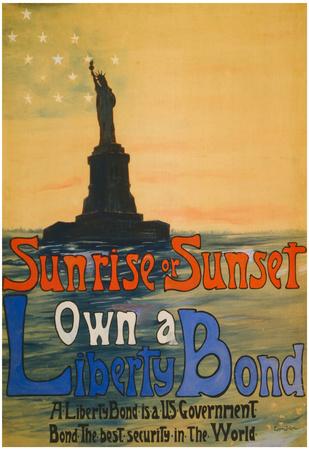 Own a Liberty Bond War Propaganda Vintage Ad Poster Print Posters