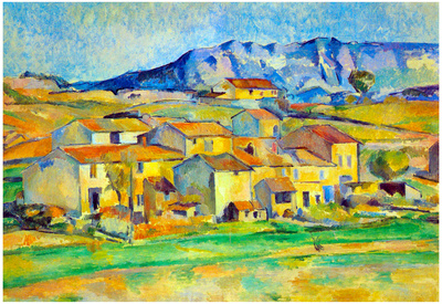Paul Cezanne Montaigne Sainte-Victoire, from the Environment Beu Gardanne of View Art Print Poster Prints