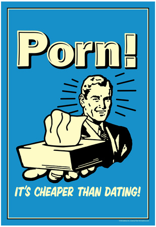 Porn It's Cheaper Than Dating Funny Retro Poster Poster