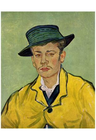 Vincent Van Gogh (Portrait of Armand Roulin) Art Poster Print Photo