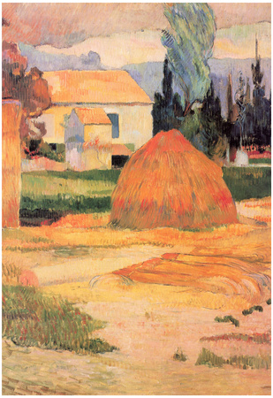Paul Gauguin Farmhouses in Arles Art Print Poster Print