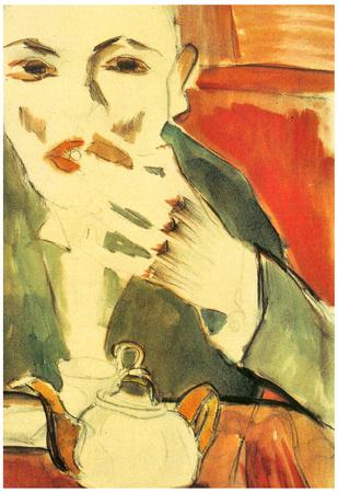 Walter Gramatte Man Chewing Walter Pritzkow Art Print Poster Poster